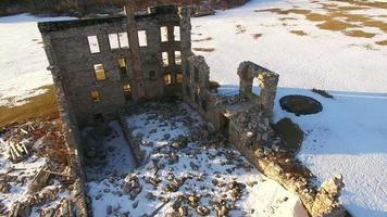 Luftaufnahme der Ruinen des alten Hotels