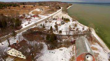 scenic door county wisconsin, cavalcavia aerea del litorale rustico