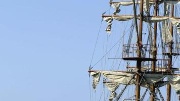 Detail of sail mast video