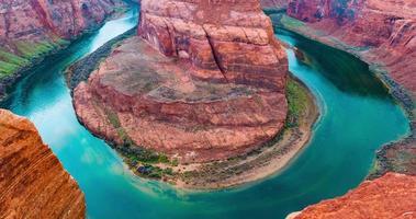 time-lapse per il meandro della curva a ferro di cavallo del fiume colorado