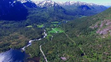 Images aériennes du col de la Gaularfjellet en Norvège