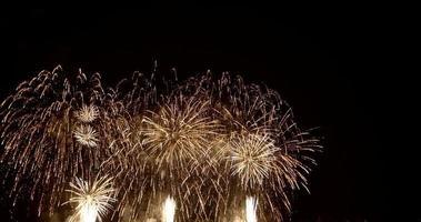 fogos de artifício contra céu negro video