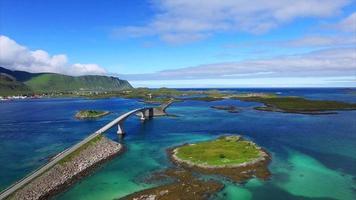 pontes panorâmicas nas ilhas lofoten na noruega