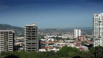 Elevated view of city against sky, Costa Rica