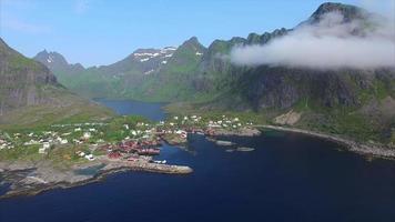 vista aerea delle isole lofoten in norvegia.