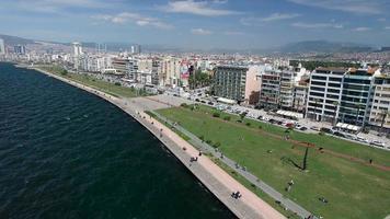 Flying Over Izmir Coastline