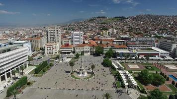 izmir konak square e la torre dell'orologio in turchia video