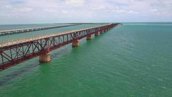 drone vídeo florida keys ponte de sete milhas video