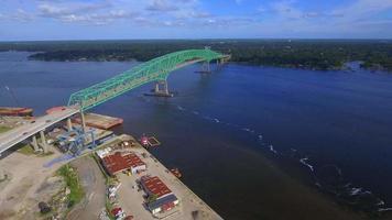 video aéreo del puente hart jacksonville fl