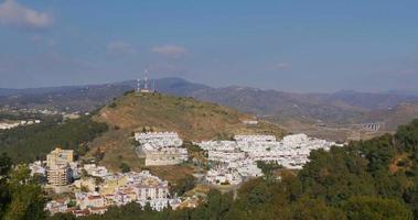 Málaga día soleado costa bloque de vida 4k