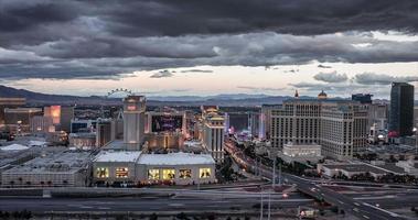 Las Vegas Skyline at Twilight Time Lapse