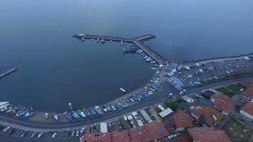 Ilha Nessebar ao amanhecer video