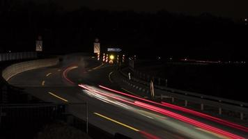 Highway and traffic at night