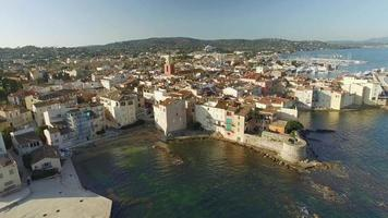 France, French Riviera, Aerial View of St Tropez, 4K, UHDV movie video