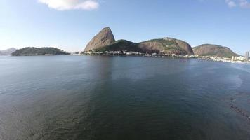Aerial view of the Pão de Açucar and Botafogo bay at Rio de Janeiro, Brazil