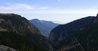 bellissimo panorama di montagna 4k vall de nuria
