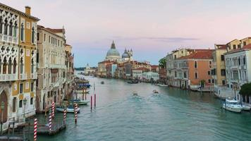 italy most famous sunset venice city grand canal santa maria della salute panorama 4k time lapse