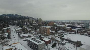 neve aérea de oregon portland video