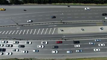 vista aerea del traffico cittadino aveva girato con drone cam
