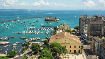 Timelapse View of All Saints Bay in Salvador, Bahia, Brazil video