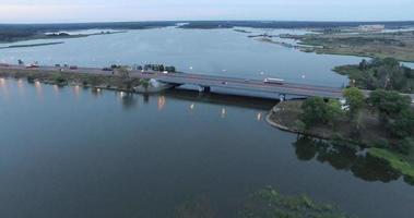 Bridge and Lake Aerial View