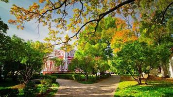 Russland Moskau Sommertag Church Park Spaziergang 4k Zeitraffer video