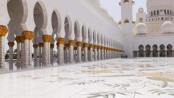 eua verão luz do dia interior da mesquita principal 4k video