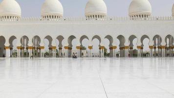eua verão luz do dia vista principal do salão da mesquita 4k video