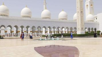 eua verão dia luz da mesquita principal árabe 4k video