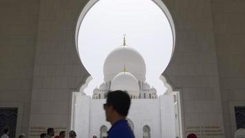 vista do salão da mesquita principal 4k eua