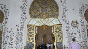 Ingresso principale della moschea degli Emirati Arabi Uniti 4K