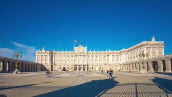 sonnenlicht königlicher palast von madrid panorama 4k zeitraffer spanien