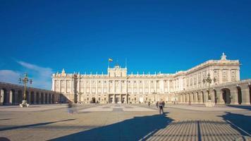 luz do sol palácio real de madri panorama 4k time lapse espanha
