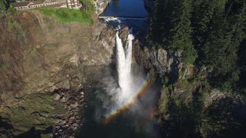 vista aérea das cataratas do Pacífico Noroeste do Pacífico video