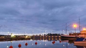 lasso di tempo di sera del porto