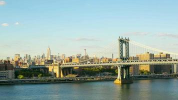 coucher de soleil manhattan bridge Empire view 4k time lapse new york video