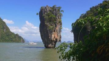 día de tailandia james bond island paseo en barco panorama 4k video