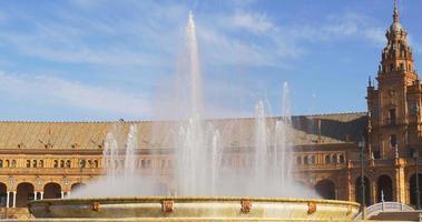 giorno luce siviglia plaza de espana fontana principale 4k spagna video