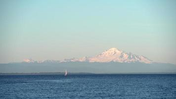 Mount Baker, Boundary Bay, État de Washington. euh