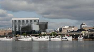 Lapso de tiempo desde la sala de congresos de Estocolmo Waterfront