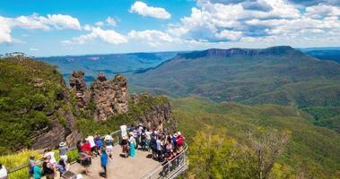 tre sorelle, le montagne blu in australia video
