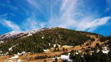 España día luz montaña estación de esquí 4k lapso de tiempo España