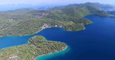 Aerial view of Mljet Island, Croatia video