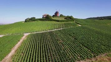 francia, champán, parque regional de la montagne de reims, molino de viento de verzenay video