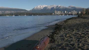 vancouver, neve di montagna, rallentatore di kitsilano 4k
