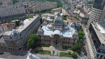Toma de drone 4k del palacio cec