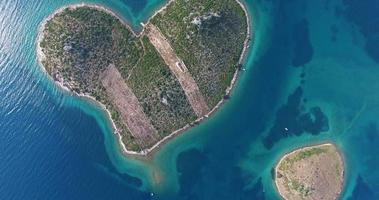 Aerial view of beautiful Island of Galesnjak, Croatia