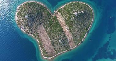 Luftbildinsel Galesnjak, Liebhaberinsel, Kroatien