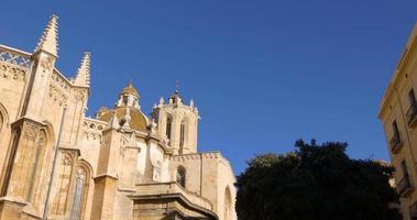 Cattedrale di Tarragona luce del sole lato superiore 4K