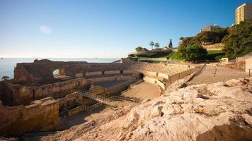 daglicht tarragona amfitheater panorama 4 k time-lapse Spanje video